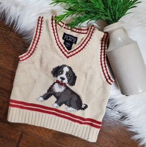 🌿5/$25 Children's Place Cream Dog Vest Sweater